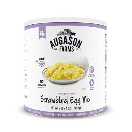 Augason Farms Scrambled Egg Mix 2 lbs 4 oz No. 10 Can Backpackers Pantry Egg Mix