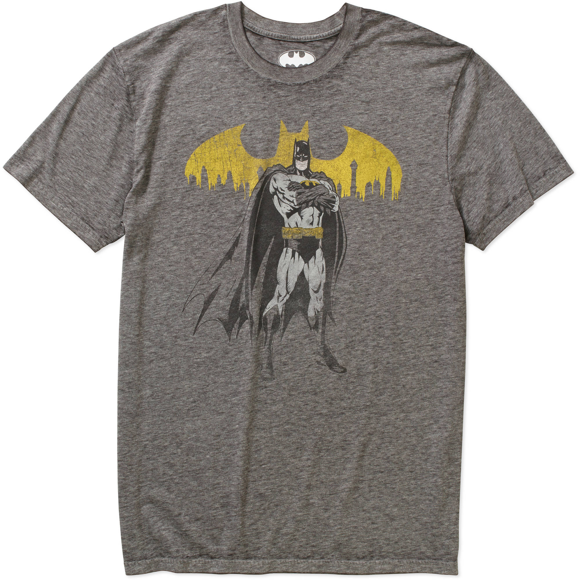 Batman Men's Burnout Graphic Tee