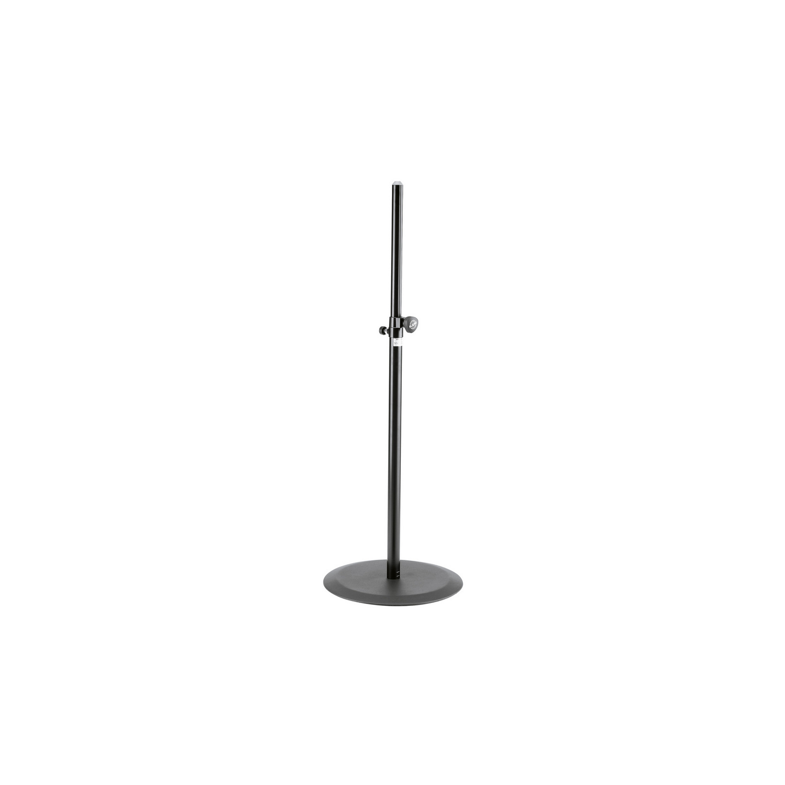 K&M 26735 | Two Piece Foldable Adjustable Speaker Stand Black by