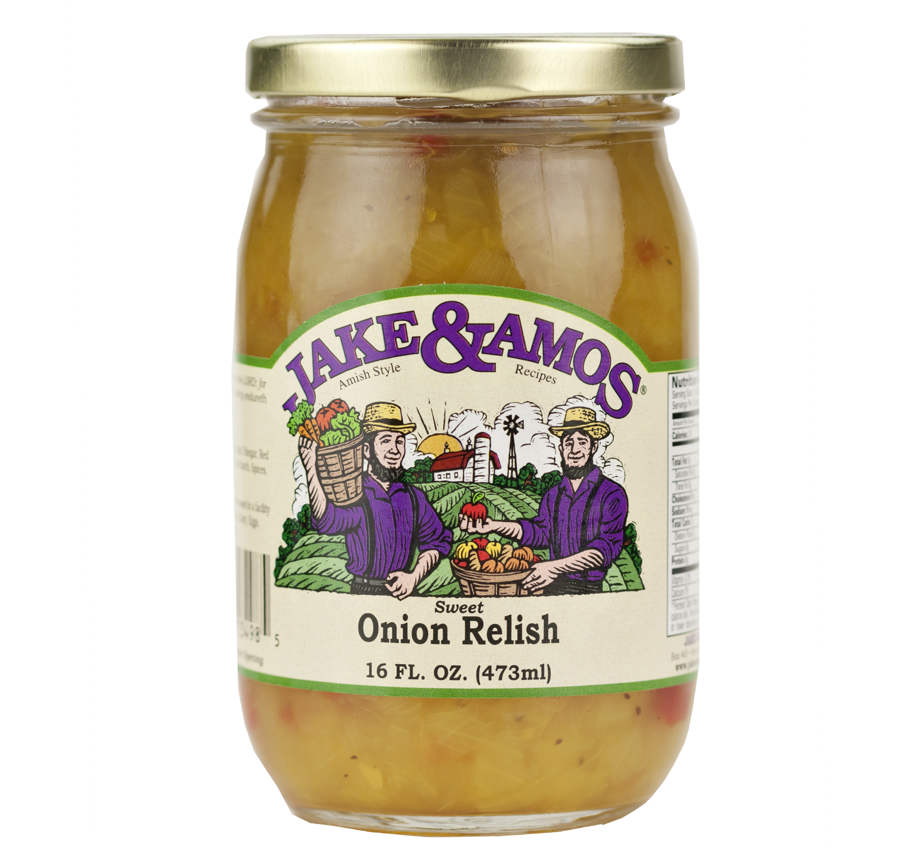 Jake & Amos Sweet Onion Relish 16 oz. Jar (2 Jars)
