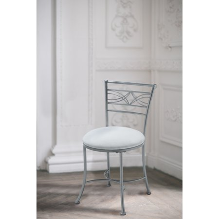 vanity chair. Hillsdale Furniture Dutton Vanity Stool  Chrome Walmart com