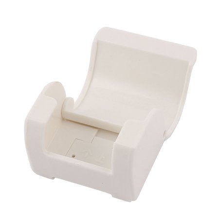 Bathroom White Plastic Self Adhesive Razor Wall Holder Shaver Storage Hanger - image 1 of 3