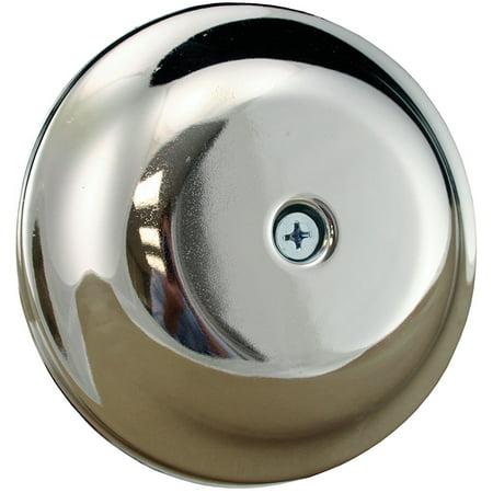 "5-1/4"" Chrome Finish High Impact Plastic Cleanout Cover Plates Bell Design,PartN"