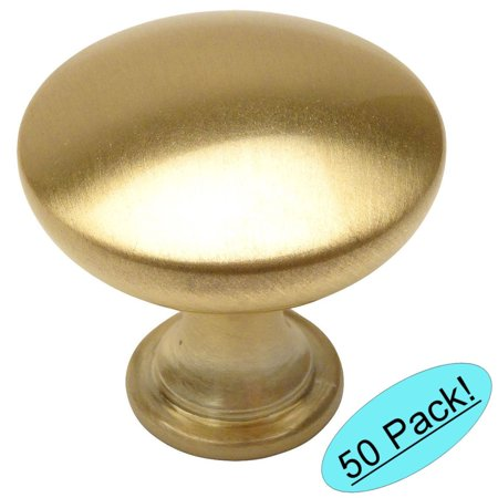 Cosmas 5305BB Brushed Brass Traditional Round Solid Cabinet Hardware Knob - 1-1/4