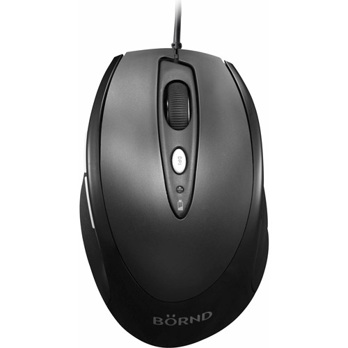 Bornd J70 Wired USB Mouse, Black