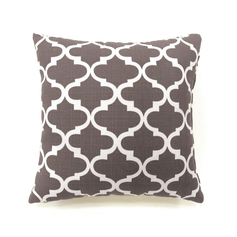 "Furniture of America Mauzy 18"" Square Throw Pillow in Gray (Set of 2) by Furniture of America"