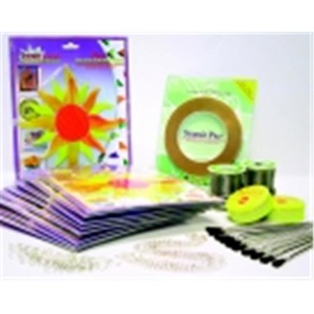 GET School Specialty Sunburst Pre-Cut Stained Glass Classroom Pack - 6 x 7 inch - Yellow, Pack 10 NOW