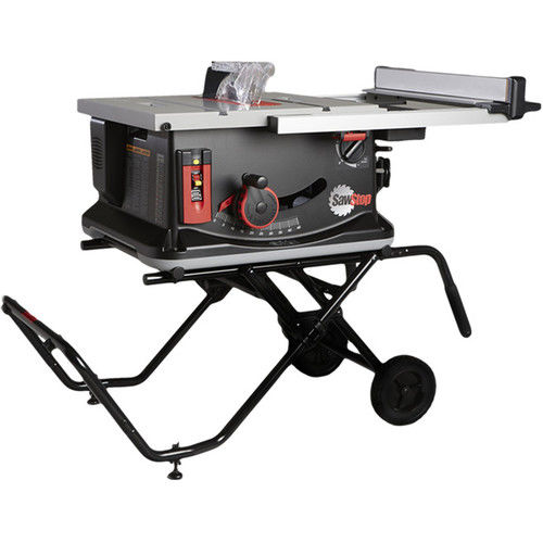 SawStop JSS-MCA 120V 1.5 HP 15 Amp 10 in. Jobsite Portable Table Saw with Stand by SAWSTOP