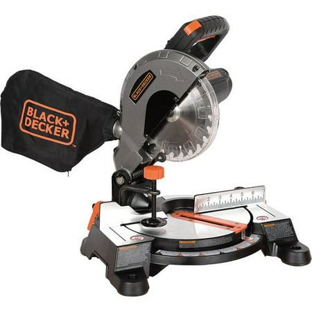 BLACK+DECKER 9 Amp 7-1/4-Inch Compound Miter Saw, (Best Miter Saw Laser Guide)