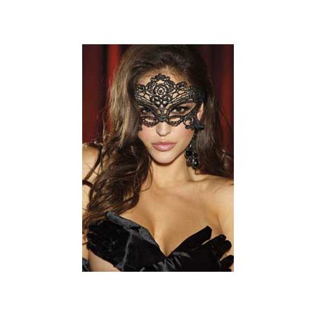 Embroidered Venice Mask 90348 Shirley Black - Hollywood Undead Mask