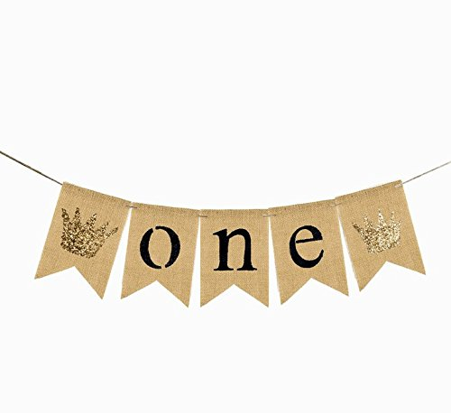 One Banner First Birthday Party Decorations 1st Birthday Burlap Pary