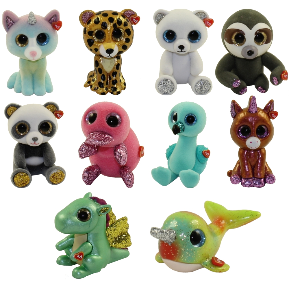 New TY Beanie Boos 2 inch INKY the Blue Flamingo Mini Boo Figures Series 4