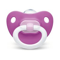 NUK Orthodontic Pacifier, Girl, 0-6 Months, 2-Pack