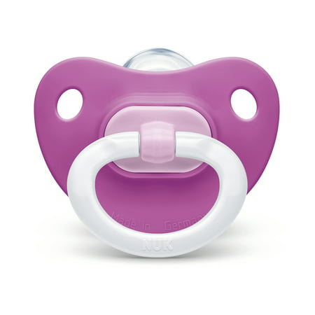 - NUK Orthodontic Pacifier, Girl, 0-6 Months, 2-Pack