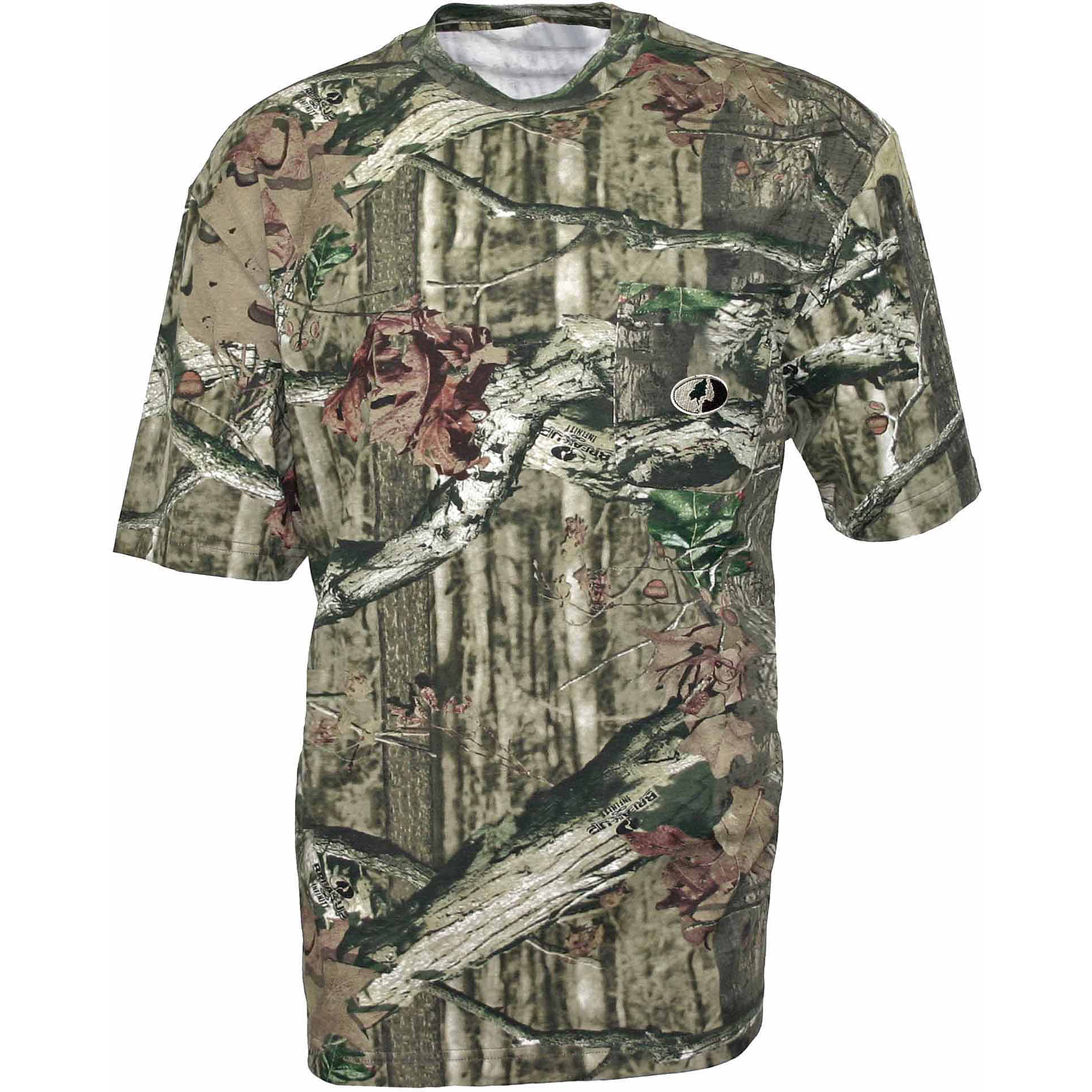 Mossy Oak Men's Short-Sleeve Pocket Tee, Camo