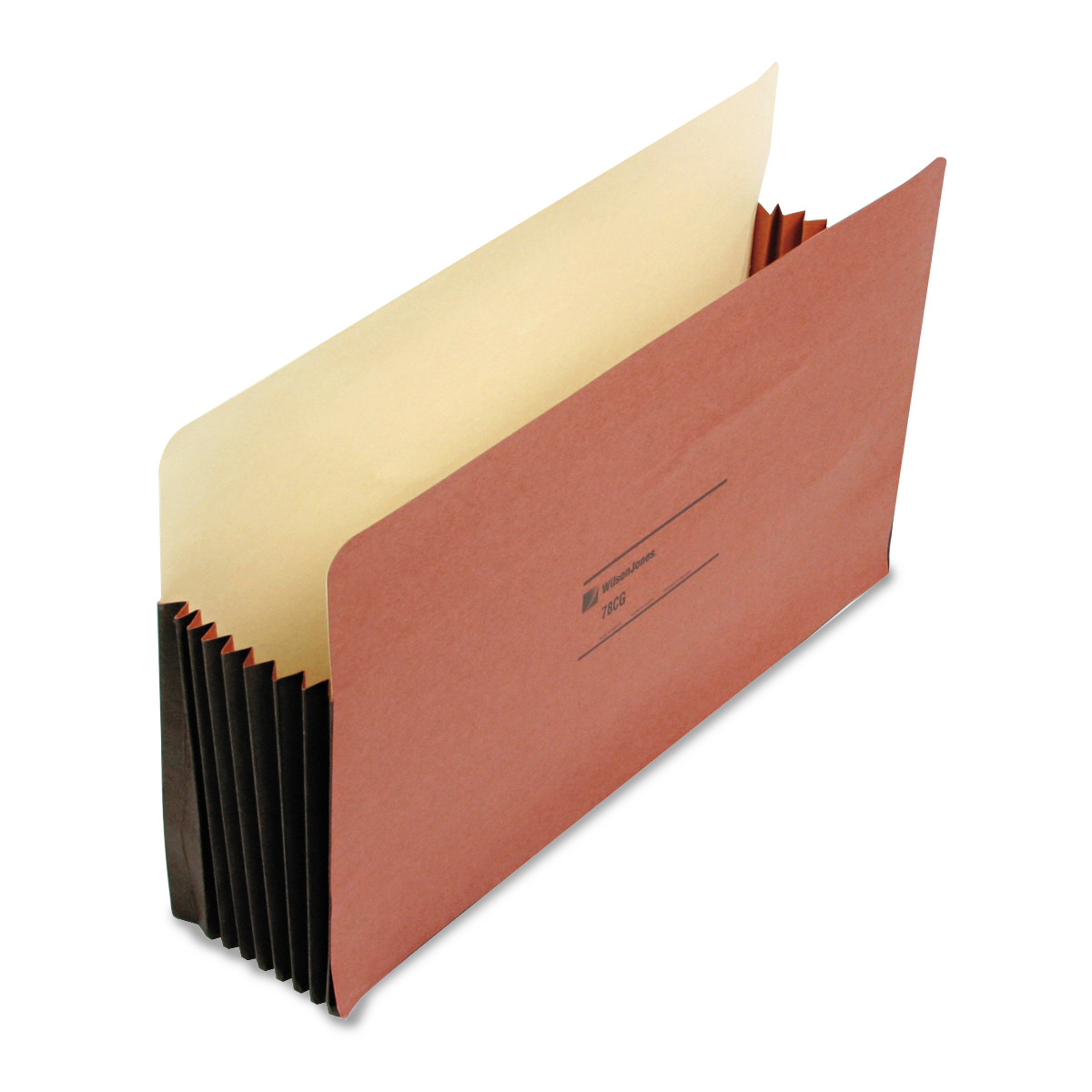 "Wilson Jones 7"" Expansion File Pocket, Straight, Legal, Redrope, 10 Box by WILSON JONES CO."