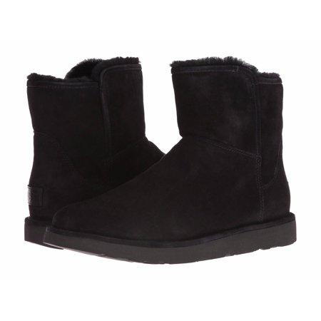 3d0a0ea195a UGG Woman's Abree Mini Zip Shearling Lined Suede Boots