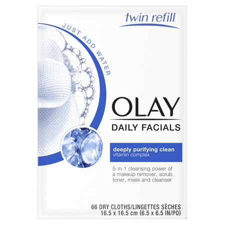 - Olay Daily Facial Cleansing Cloths, Makeup Remover, 66 Count