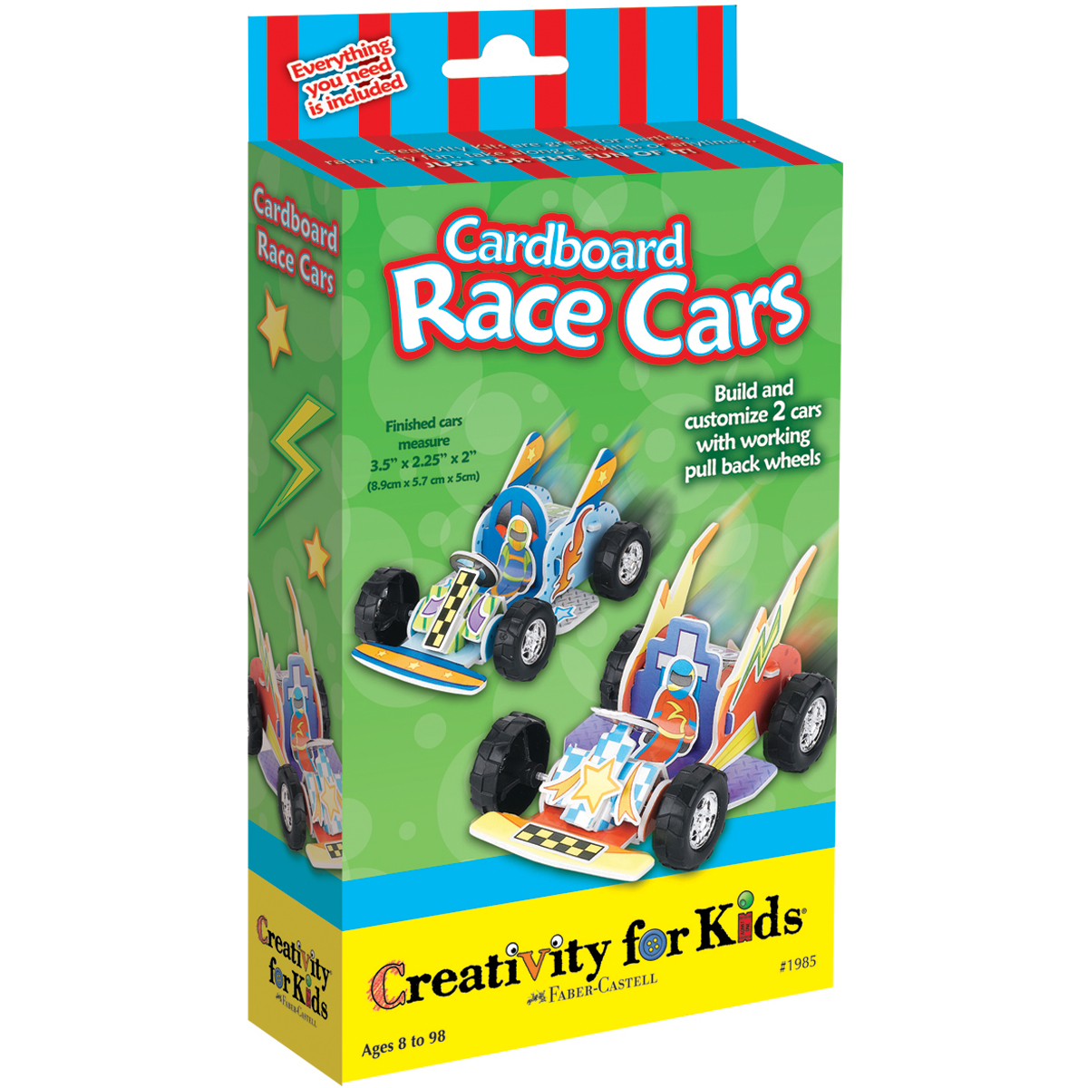 FaberCastell Creativity/Kids Cardboard Race Cars