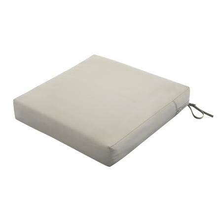 Classic Accessories Ravenna Square Seat Patio Cushion, Slip Cover & Foam, 23