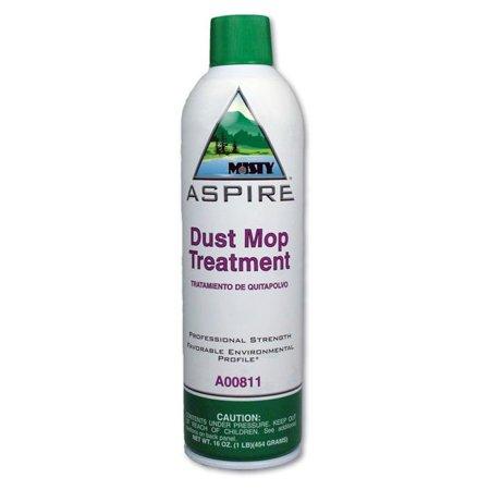 Misty 1038049 20 oz Aspire Dust Mop Treatment, Lemon Scent Aerosol Can - 12 Per Case