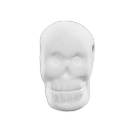 Ceramic bisque unpainted unfinished Skull Bead ?