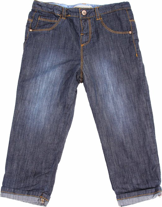 Richie House Boy's Straight Cut Cuffed Lined Jeans RH120130
