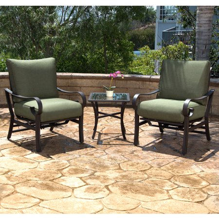 Harwick 3 piece small space patio bistro set seats 2 - Piece dining set small spaces plan ...
