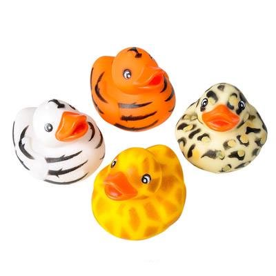 Rhode Island Novelty - Rubber Ducks - SAFARI PRINT DUCKIES (Set of 4 Styles)