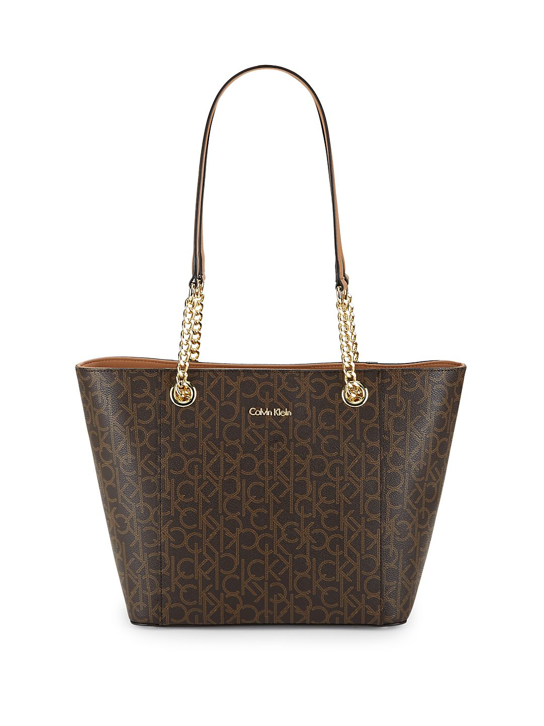Top Zip Leather Tote