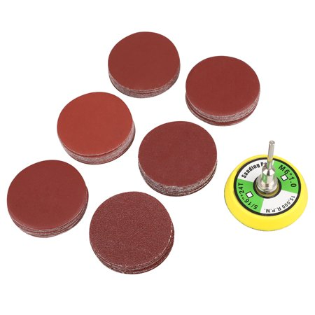 EEEkit  2 inch 100PCS Sanding Discs Pad Kit, for Drill Grinder Rotary Tools with Backer Plate 1/4