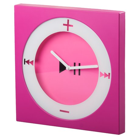 EdgeVantage Trendy Wall Clock Pop Art Decorative Square Modern Bright Colors Fun