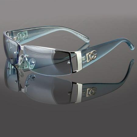 - New DG Mens Womens Rectangular Rimless Designer Sunglasses Shades Eyewear Wrap