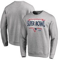 New England Patriots NFL Pro Line by Fanatics Branded Super Bowl LIII Champions Neutral Zone Sweatshirt - Heather Gray