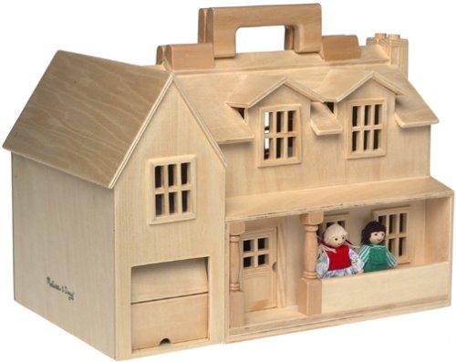 Melissa Doug Fold Go Dollhouse Portable Wooden
