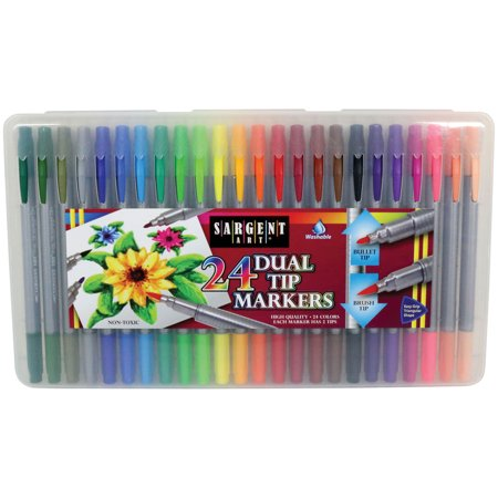 Sargent Art - Dual Tip Markers, 24 Count