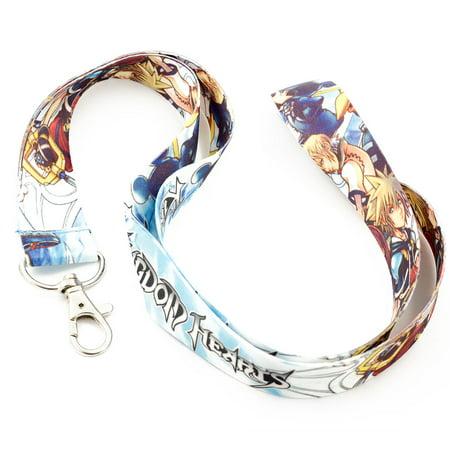 Hearts Lanyard (Kingdom Hearts Neck Lanyard BLUE 25mm X 45cm Keychain Holder Mp3 Camera Holder Blue )