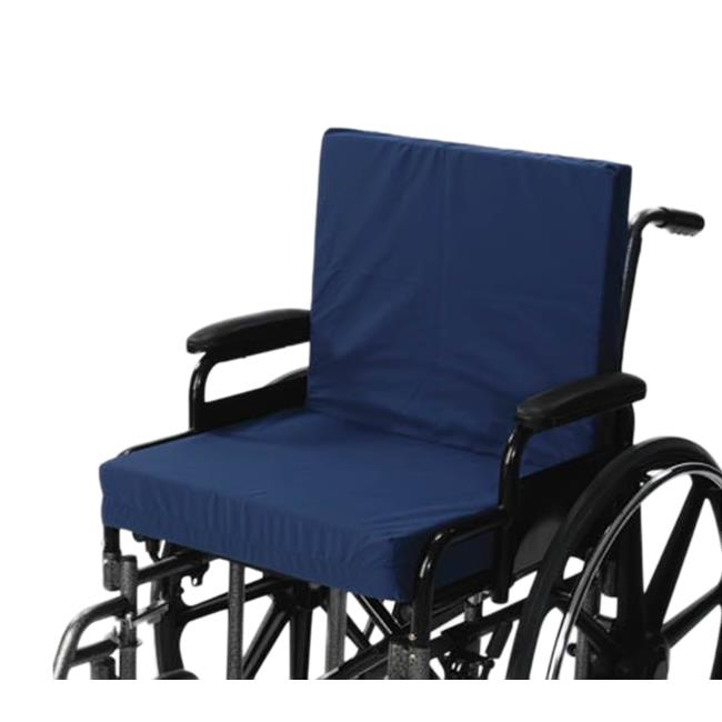 Living Health Products AZ-74-5011-2 16 x 18 x 2 in. Wheelchair Cushion with Back 2 in. Seat - Navy