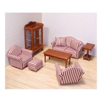 Product Image Melissa Doug Clic Victorian Wooden And Upholstered Dollhouse Living Room Furniture 9
