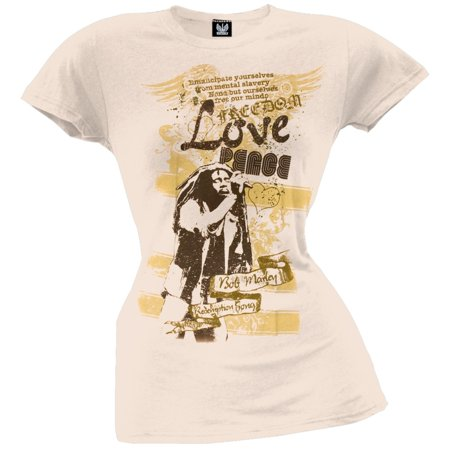 Bob Marley Tee Shirts - Bob Marley - Lyrics Juniors T-Shirt