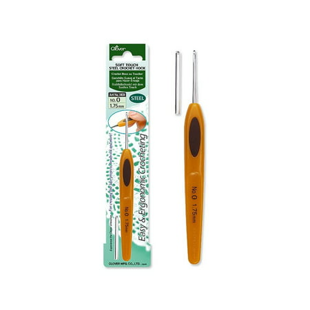 Clover Soft Touch Steel Crochet Hook Size 14 Walmartcom