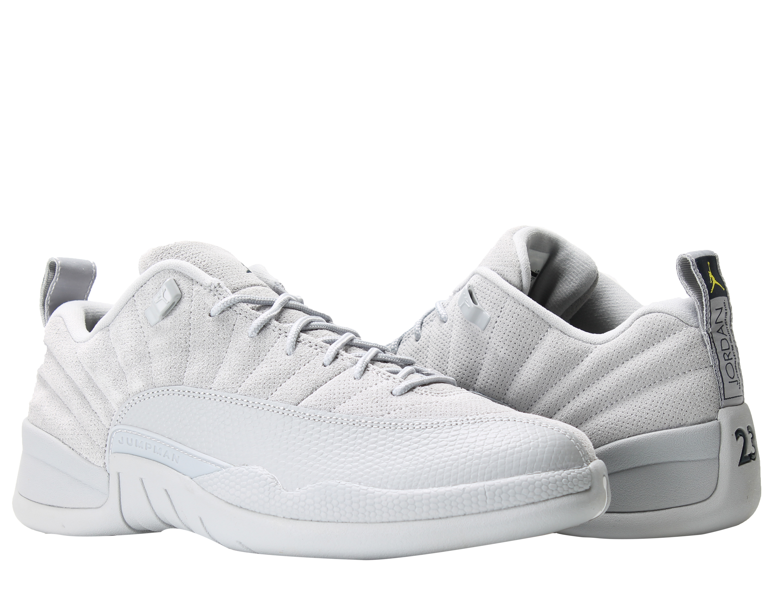 Nike Air Jordan 12 Retro Low Wolf Grey Men's Basketball Shoes 308317-002 Size 8 by Jordan