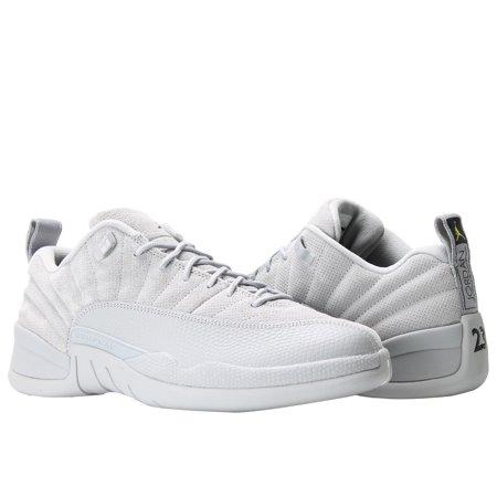 1bdcae83a Nike Air Jordan 12 Retro Low Wolf Grey Men s Basketball Shoes 308317 ...