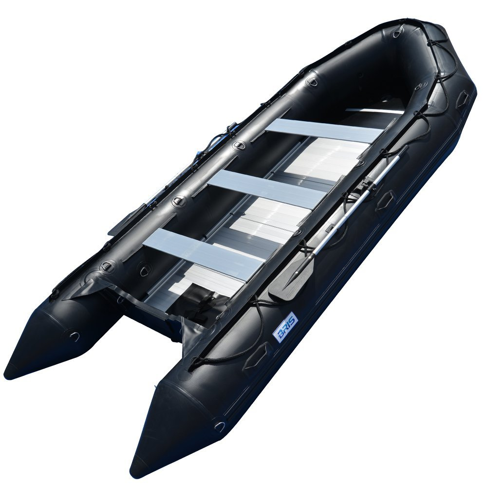 BRIS 15.4Ft Inflatable Boat Inflatable Rescue Dive Boat Dinghy Raft Pontoon Boat