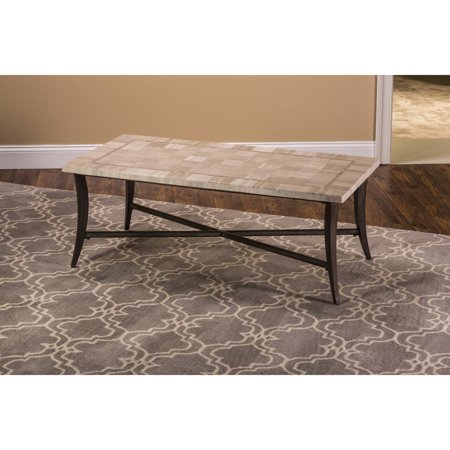 Chancey rectangle coffee table top marble component for Marble top coffee table rectangle