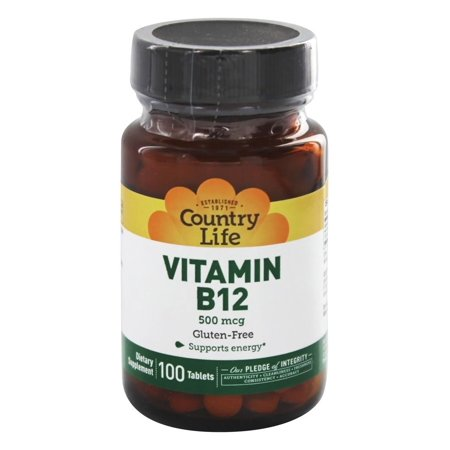 Country Life Vitamin B12 500 Mcg 100 Tablets