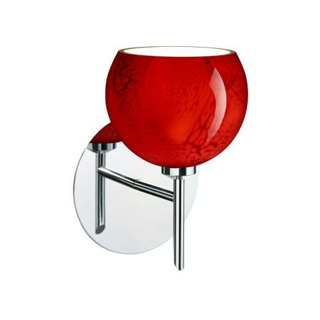 Besa Lighting 1SW-5658MA Palla 1-Light Halogen Bathroom Sconce with Magma Glass Shade
