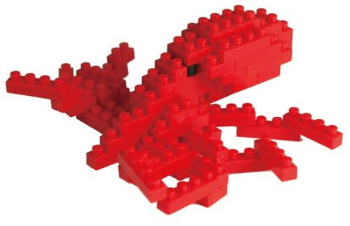 Octopus 80 Piece Nanoblock Puzzle by Ohio Art