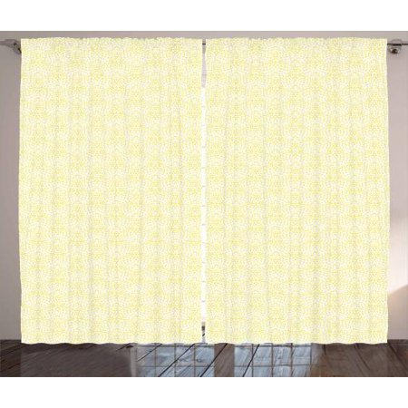 Art Deco Curtains 2 Panels Set Fluffy Aster Flower With Large And Bushy Petal Stamped Look Design Window D For Living Room Bedroom 108w X 96l Inches