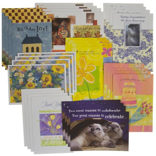 32 Count Variety Pack For Every��Occasion Greeting Cards With Envelopes Bulk Set USA Made